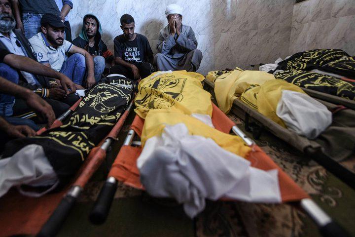 غزة تشيع جثامين شهداء عائلة أبو ملحوس
