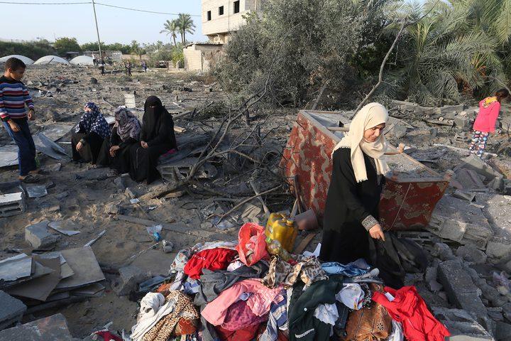 آثار الدمار الذي خلفه عدوان الاحتلال على قطاع غزة