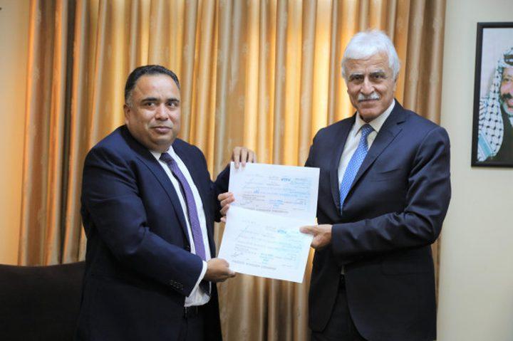دعم مالي جديد من الهند لتشييد وتوسعة عدة مدارس في فلسطين