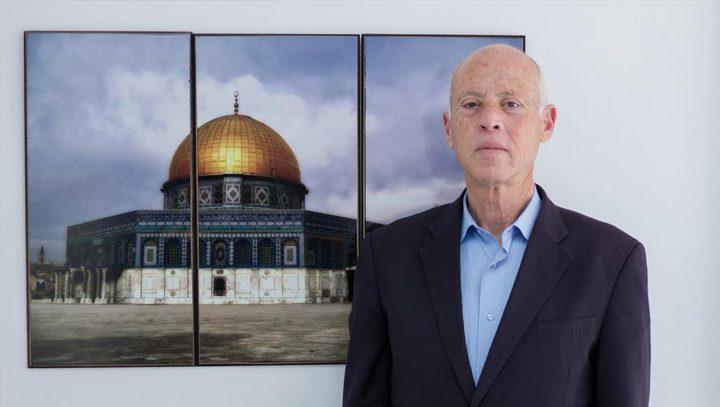 الرئيس التونسي: تأبى غزة إلا أن تبقى قبلة العز