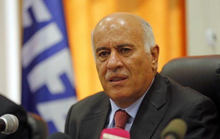 الرجوب يطلع قائد قوات الدفاع البحريني على آخر المستجدات السياسية
