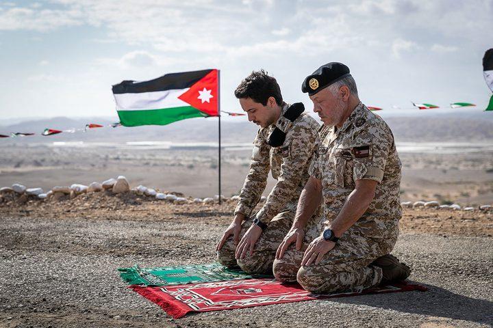 ملك الأردن عبدالله الثاني يزور الغمر