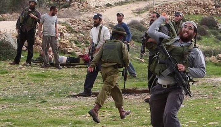 إصابة مواطن في اعتداء للمستوطنين