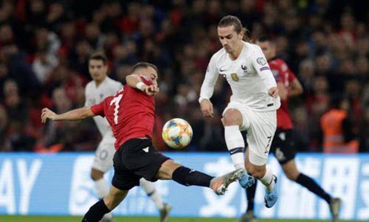 منتخب فرنسا ينهي رحلة التصفيات بالفوز على ألبانيا