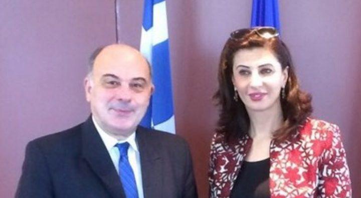مشاورات سياسية فلسطينية يونانية في رام الله