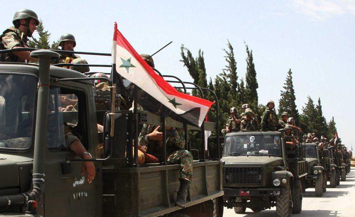 الجيش السوري يدفع بتعزيزات في المنطقة الحدودية مع تركيا