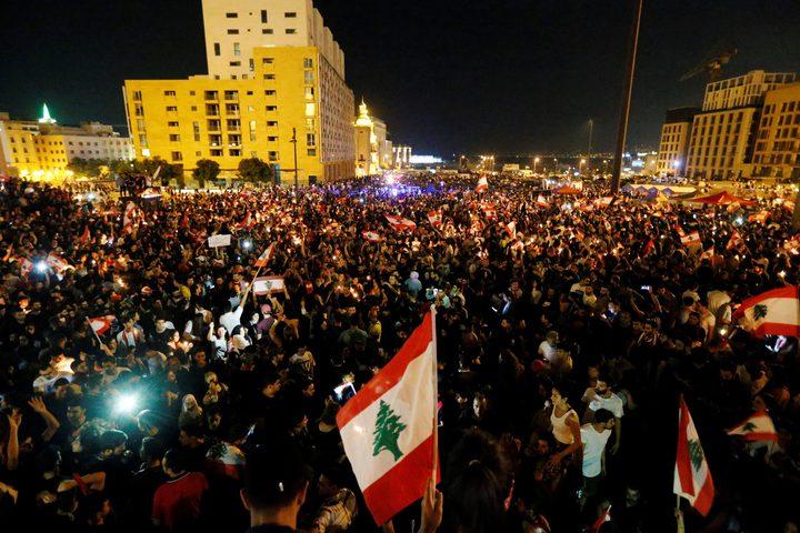 جرحى واعتقالات في ساحة رياض الصلح بلبنان