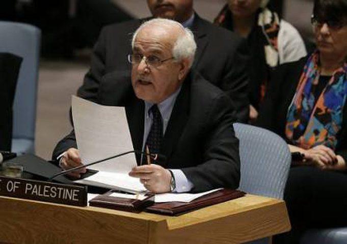 منصور: بدأنا مشاورات في مجلس الامن للتصدي للإعلان الاميركي