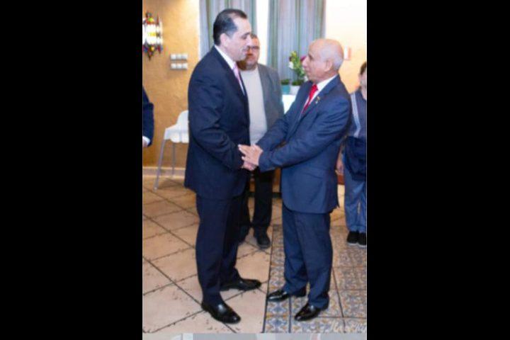 السفير المصري يشارك بحفل أقامه ممثل الرئاسة الفلسطينية في اوروبا