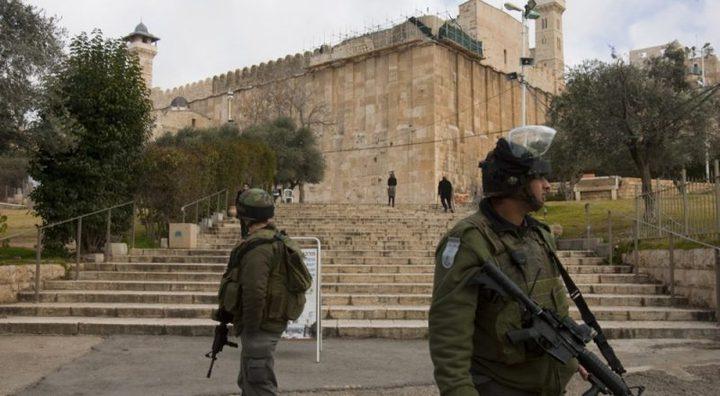 الاحتلال يغلق الحرم الإبراهيمي بحجة تأمين احتفالات المستوطنين