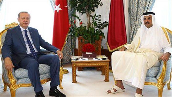 قطر تستقبل الرئيس التركي في الديوان الأميري بالدوحة