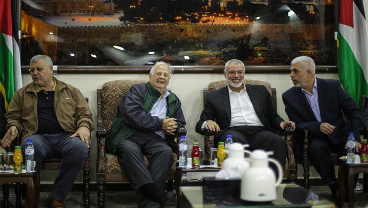حماس: سنسلم ردنا الخطي بشأن الانتخابات لحنا ناصر حال وصوله لغزة