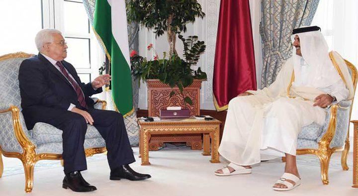 الرئيس عباس يصل الدوحة في زيارة عمل