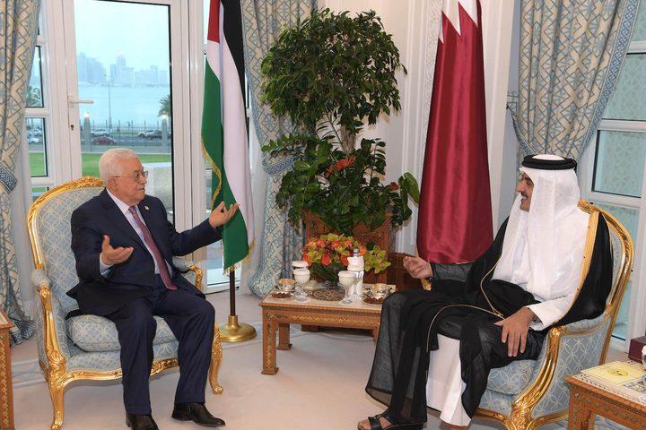 الرئيس يجتمع بأمير قطر بالعاصمة الدوحة