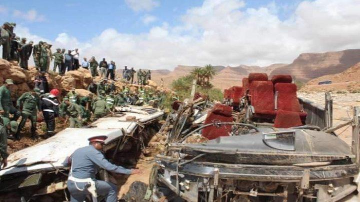 17 قتيلاً في انقلاب حافلة في المغرب