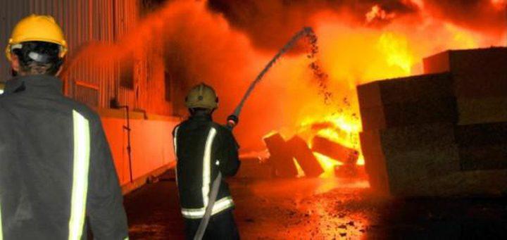 اندلاع حريق في سوبر ماركت بقلقيلية