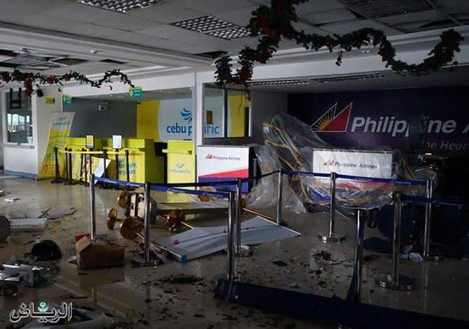 الإعصار كاموري يجبر السلطات الفلبينية على إغلاق مطار مانيلا