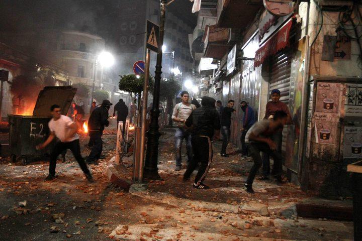 إصابات بالاختناق بمواجهات مع الاحتلالشمال الخليل