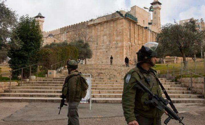 الأوقاف: سياسية إسرائيلية للاستيلاء على الحرم الإبراهيمي كاملاً