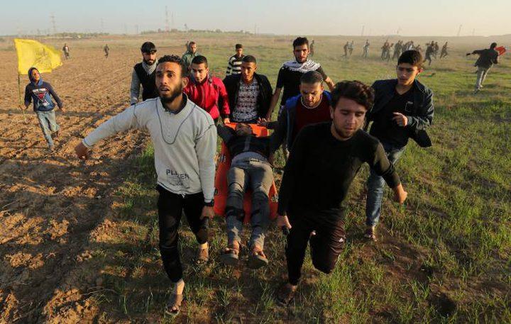 عشرات الاصابات بالرصاص جراء قمع الاحتلال لمسيرات العودة شرق غزة