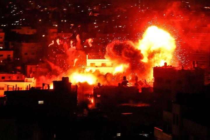 طيران الاحتلال الحربي يقصف موقعًا شمال قطاع غزة