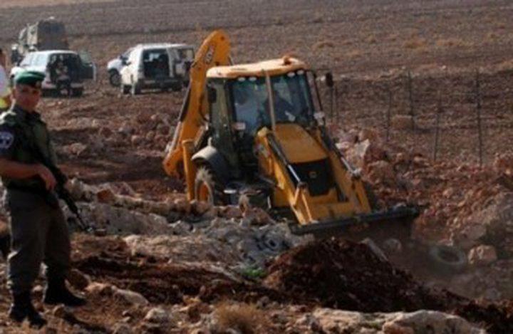 أهالي قرية كفر لاقف يتصدون لمحاولة الاحتلال تجريف اراضيهم