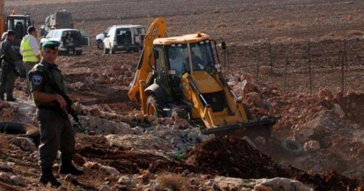 تجريف 27 دونما من أراضي كفر لاقف شرق قلقيلية