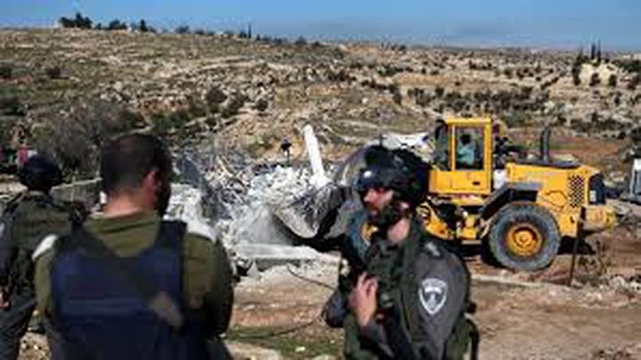 تجريف عشرات الدونمات في قرية كفر لاقف شرق قلقيلية