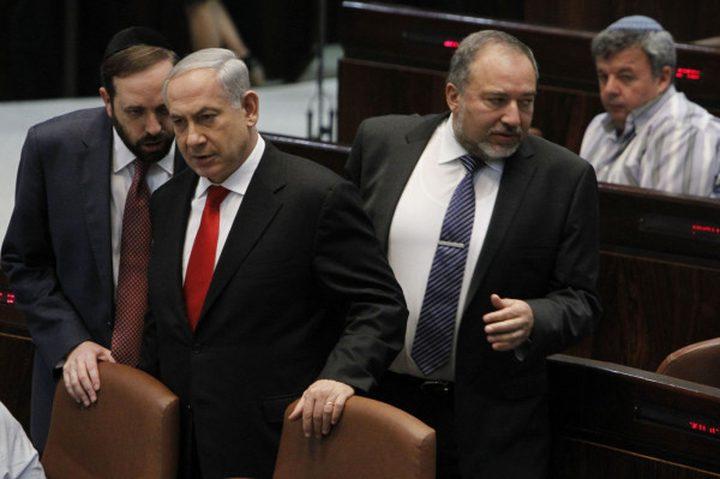 نتنياهو يطالب ليبرمان بالتدخل لتشكيل حكومة وحدة قبل فوات الأوان