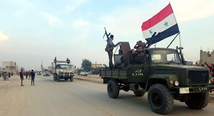 انتشار قوات للجيش السوري بين طريق الحسكة_حلب