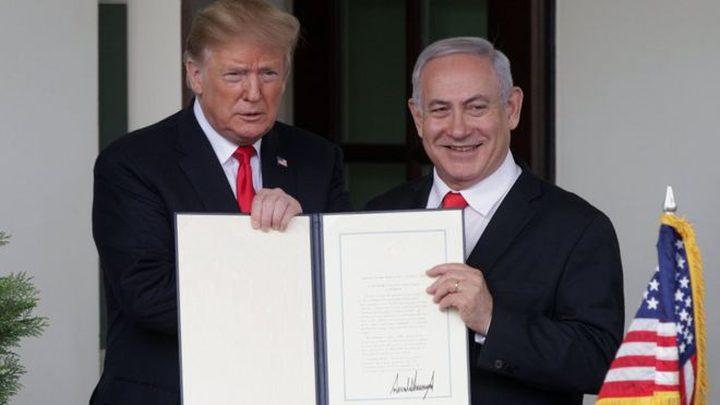 ترامب يبحث إمكانية إعلان بنود صفقة القرن قبل تشكيل حكومة الاحتلال