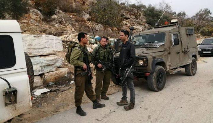 قوات الاحتلال تمنع ترميم نبع مياه جنوب نابلس