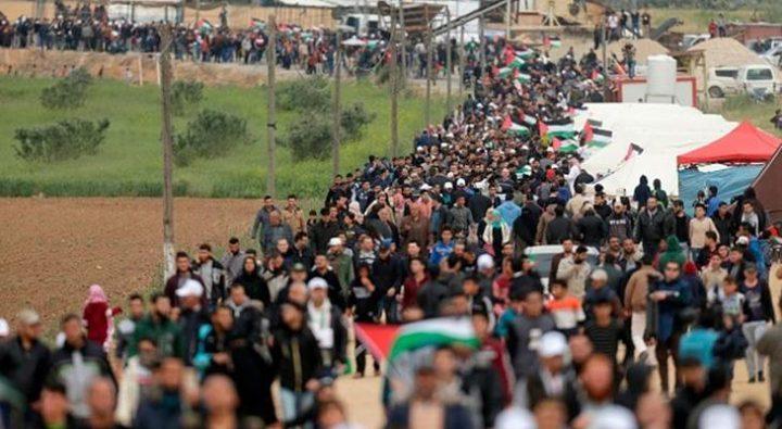 غزة: مؤتمر صحفي هام غداً للهيئة الوطنية لمسيرات العودة