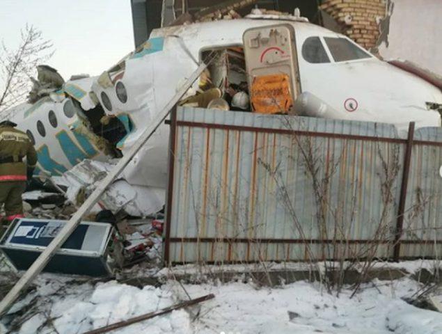 مقتل 14 شخصاً واصابة 35 جراء تحطم طائرة ركاب كازاخستانية