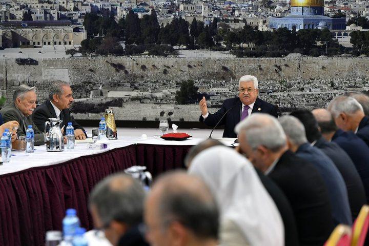 القيادة:من المبكر الحديث عن الرد على قرار اسرائيل بشأن الانتخابات
