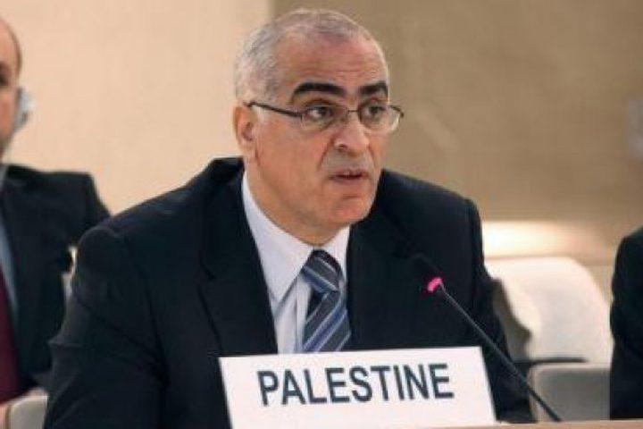 خريشة يطالب دول العالم بتحمل مسؤولياتها ازاء انتهاكات الاحتلال