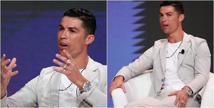 رونالدو يرتدي مجوهرات بأكثر من نصف مليون دولار خلال حفل تكريم