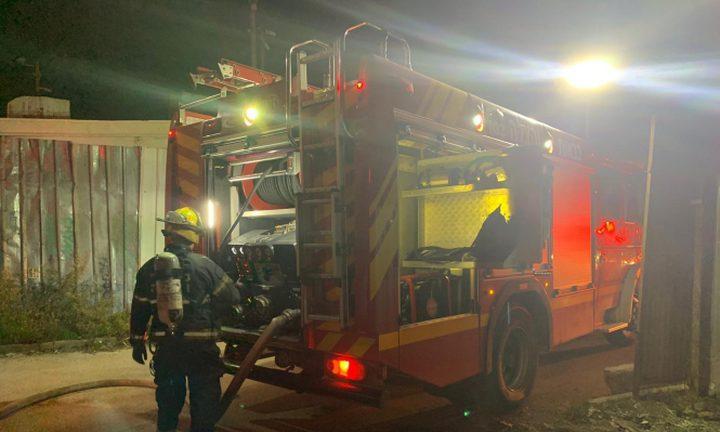 حريق في منزل مأهول في البعنة