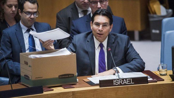 انتهاء مهام سفير دولة الاحتلال في الأمم المتحدة داني دانون