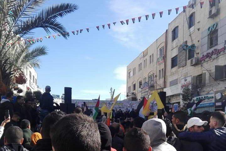 فتح تحتفل بانطلاقتها الـ55 في مدينة رام الله
