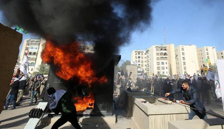 إصابات بتجدد الاحتجاجات بمحيط السفارة الأميركية ببغداد