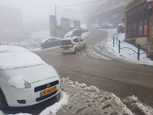 تساقط الثلوج في الجولان وبعض البلدات داخل اراضي عام 48