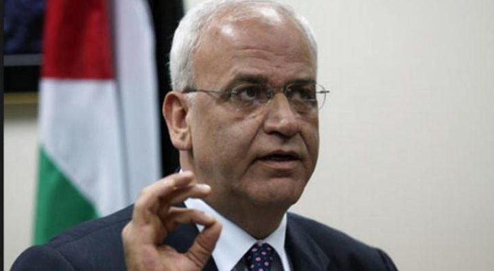 عريقات: توقيع حماس اتفاق تهدئة مع الاحتلال ترسيخ للانفصال