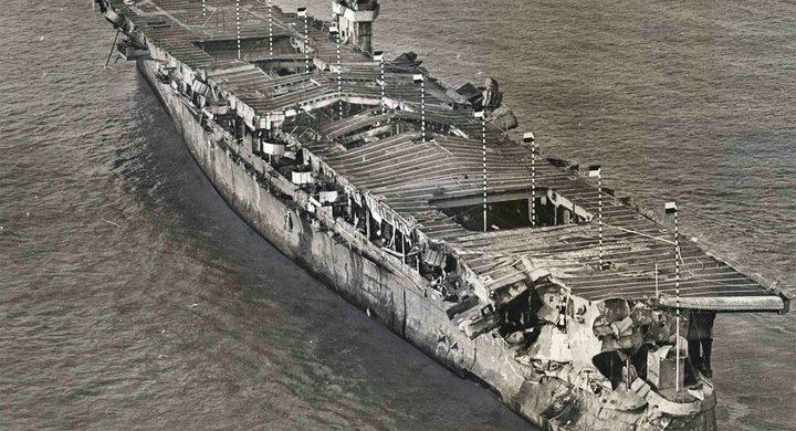 حطام سفينة يظهر بعد 100 عام على غرقها ثم يختفي