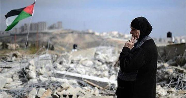 """""""الجدار والاستيطان"""": الاحتلال يهدم 686 منزلا ومنشأة خلال عام 2019"""