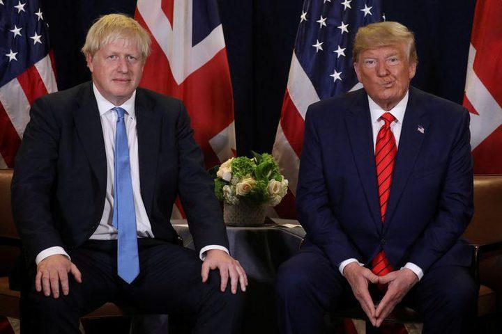 ترامب وجونسون يبحثان الوضع بالعراق