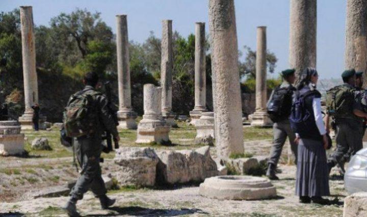 الاحتلال يقتحم الموقع الأثري في سبسطية شمال نابس