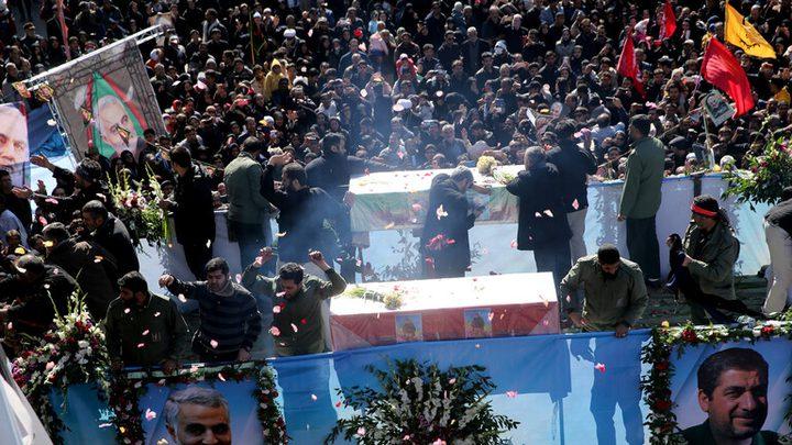 40 قتيلا و200 جريحًا خلال تدافع مشيعي قاسم سليماني في إيران