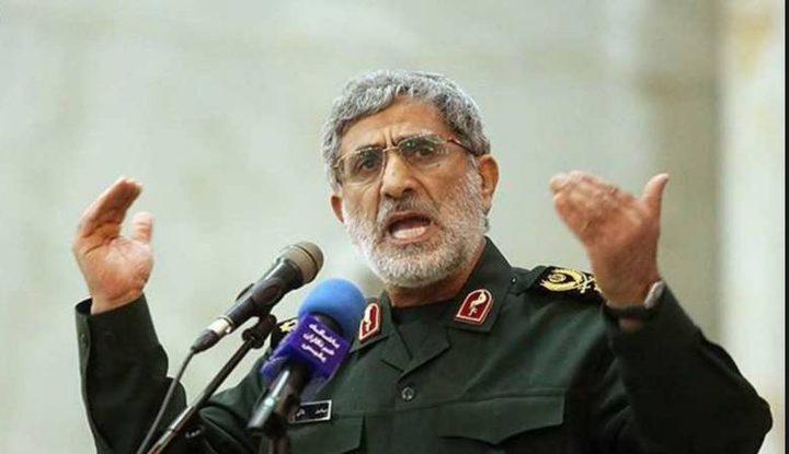 قآني: طهران ستواصل السير على نهج سليماني