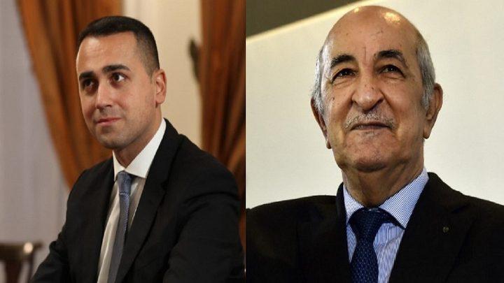 الرئيس الجزائري يلتقي وزير الخارجية الإيطالي لبحث الأزمة الليبية